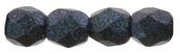3mm Firepolish Indigo Orchid Beads