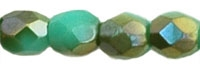 3mm Firepolish Green Turquoise Celsian Beads