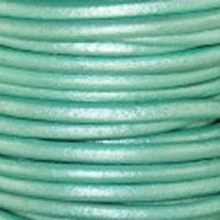 1.5mm Met. Oasis Turquoise Leather Spool