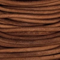 1.5mm Natural Light Brown Leather Spool