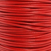 1.5mm Red Round Leather Spool