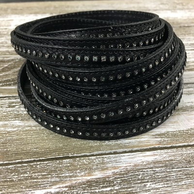 10mm Black Crystal Leather