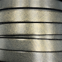 10mm Flat Metallic Bronze Leather