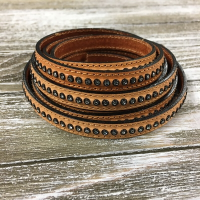 10mm Tan Crystal Leather