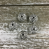 10mm Hammered Pewter Spacer