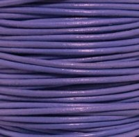 Light Violet Round Leather Cording