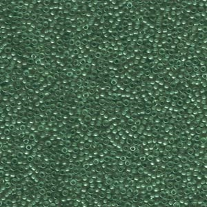 15/0 Miyuki Seed Beads Lined Green/Teal Lustre