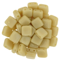 CzechMates Opaque LT Beige Tile Bead 6mm