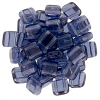 CzechMates Montana Blue Tile Bead 6mm