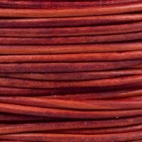 Natural Red Round Leather Cording