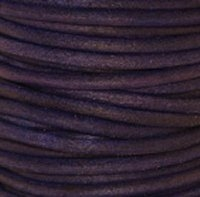 Natural Violet Round Leather Cording