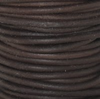 Natural Antique Brown Round Leather Cording
