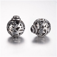 Antique Silver 3 Hole Guru Bead