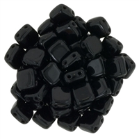 CzechMates Jet Tile Bead 6mm