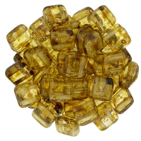 CzechMates Matte Crystal Picasso Tile Bead 6mm