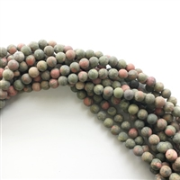 8mm Matte Unakite Strands