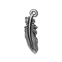 TierraCast Small Feather Charm