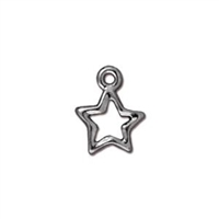 TierraCast Open Star Charm