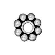 TierraCast 8mm Large Hole Beaded Spacer