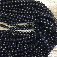 8mm Blue Goldstone Strands