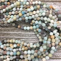 8mm Matte Amazonite Strands