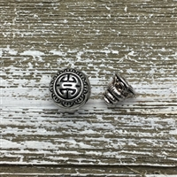 Antique Silver 3 Hole Guru Bead Set