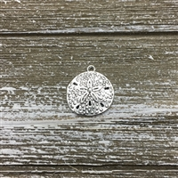 Antique Silver Sand Dollar Charm