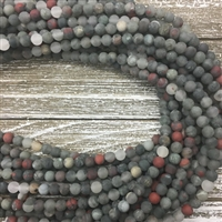 6mm Matte African Bloodstone
