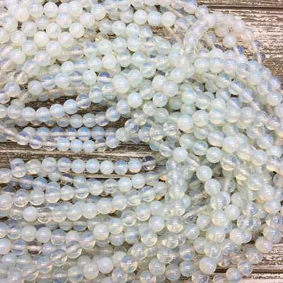 8mm Round Opalite Bead Strands