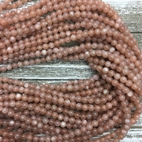 6mm Peach Moonstone Strands AAA Grade