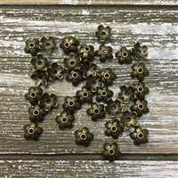 Small Flower Bead Caps - Antique Bronze