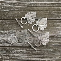 Antique Silver Leaf Toggle