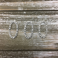 Oval Hammered Silver Rings