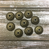 Tibetan Style Bead Caps - Antique Bronze