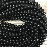 10mm Black Onyx Strands