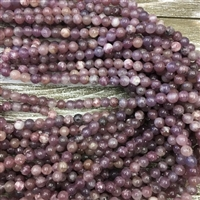 8mm Lepidolite Strands