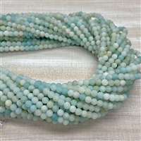 4mm Matte Amazonite Strands