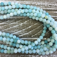 6mm Matte Amazonite Strands