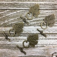 Antique Bronze Leaf Toggle