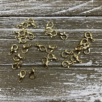 12x6mm Lobster Clasps - Gold