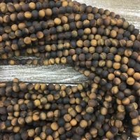 6mm Matte Tigers Eye Strands