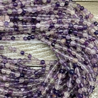 6mm Purple Fluorite Strands