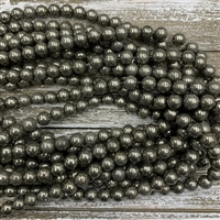8mm Pyrite Bead Strands