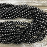 6mm Shungite Bead Strands