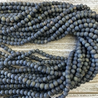 6mm Matte Blue Tigers Eye Strands