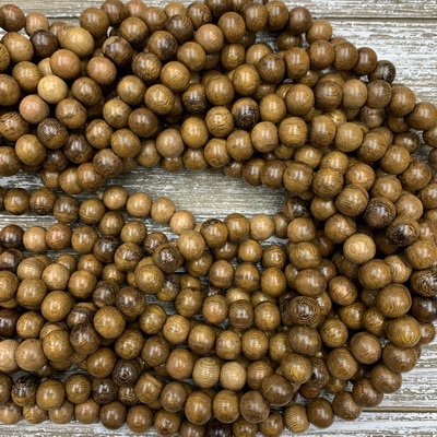10mm Robles Wood Bead Strands