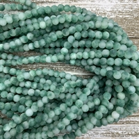 6mm Matte Dyed Green Marble Jade Strands