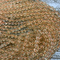8mm Citrine Rounds Strands