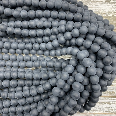 10mm Matte Black Onyx Strands