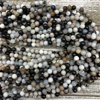 6mm Parral Dendritic Agate Bead Strands